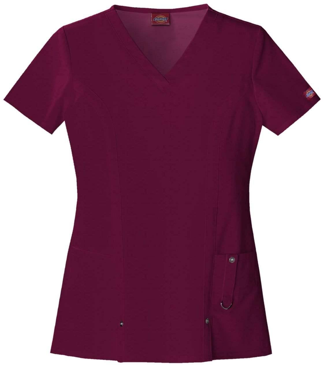 Dickies Women's V Neck Solid Scrub Top - Purple, 2X-Large