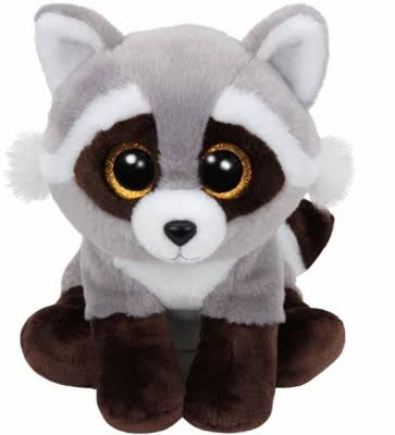 Ty Beanie Boo Buddy Plush Toy - Bandit Raccoon, 9in