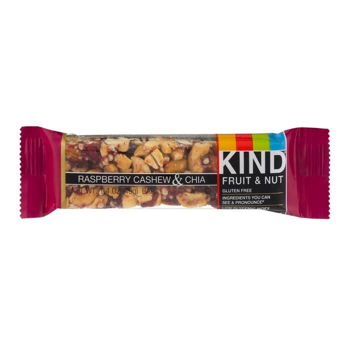 Kind Fruit & Nut Bar Raspberry Cashew & Chia Bars