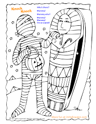 Scary Halloween Coloring Pages Online by Mummy Coloring Pages Scary Mummy Coloring Pages Hellokids Coloring
