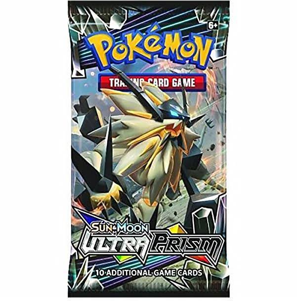 Pokemon Sun and Moon Ultra Prism Booster Trading Cards - 10 Pack