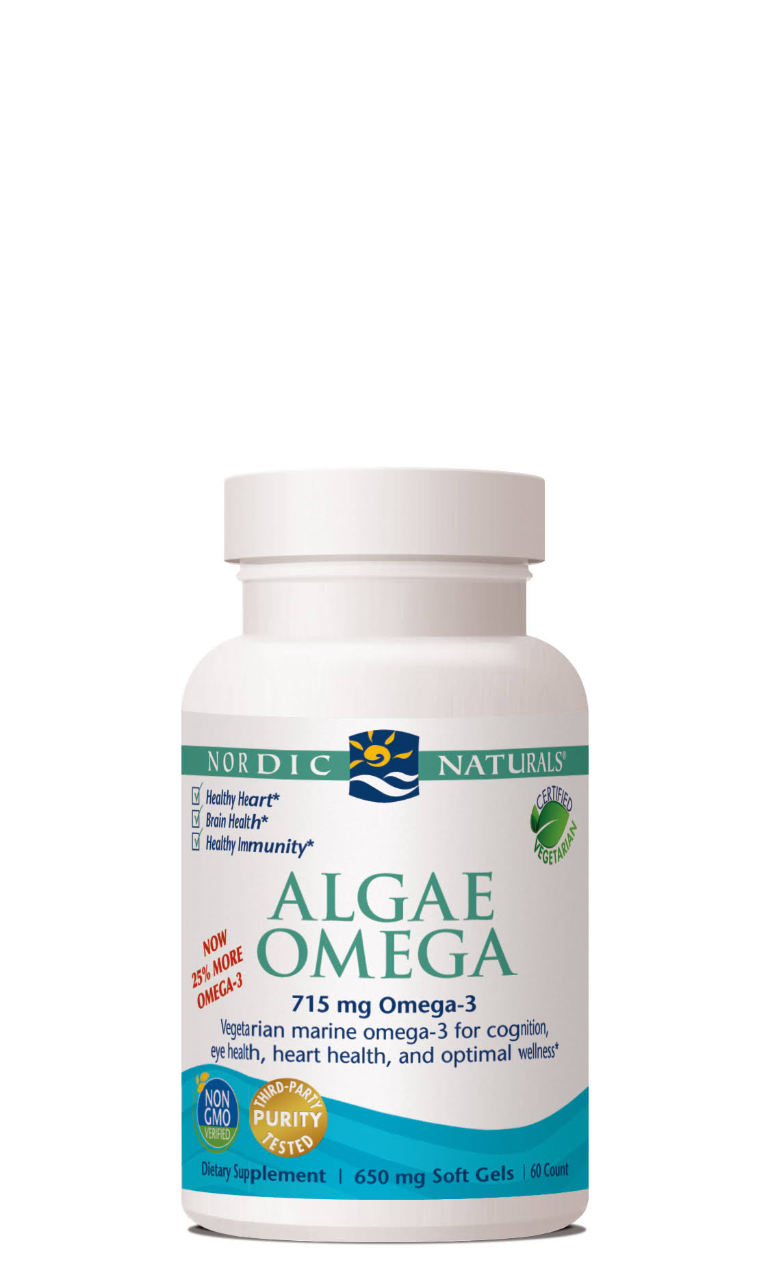 Nordic Naturals Algae Omega Dietary Supplement - 60 Softgels
