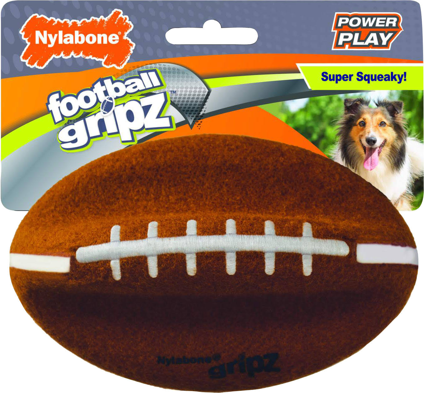 Tfh Publications & Nylabone NPLY007P Power Play Gripz Football - Large