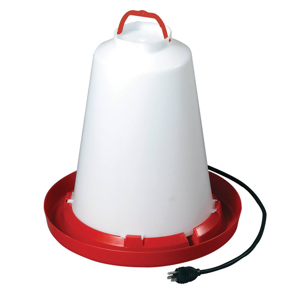 Allied Precision Heated Chicken Waterer - 3 Gallon