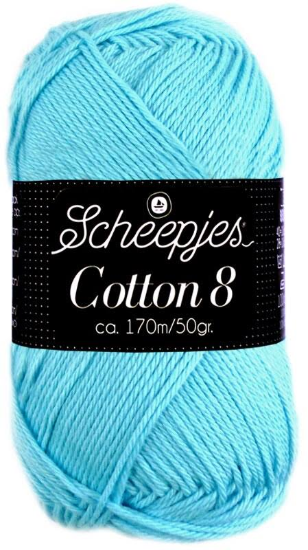 Scheepjes Cotton 8 - 622 Light Turquoise