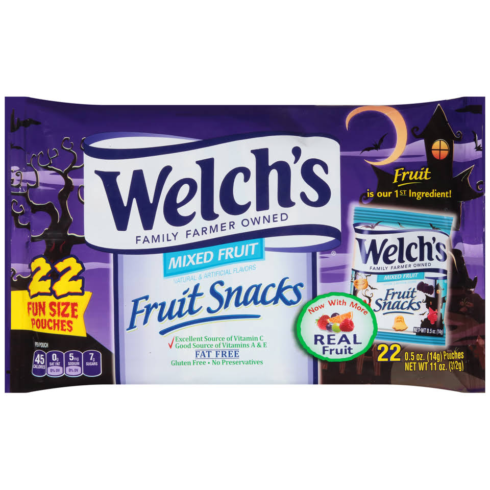 Welch's Fruit Snacks Mixed Fruit - 22 Pouches, 312g