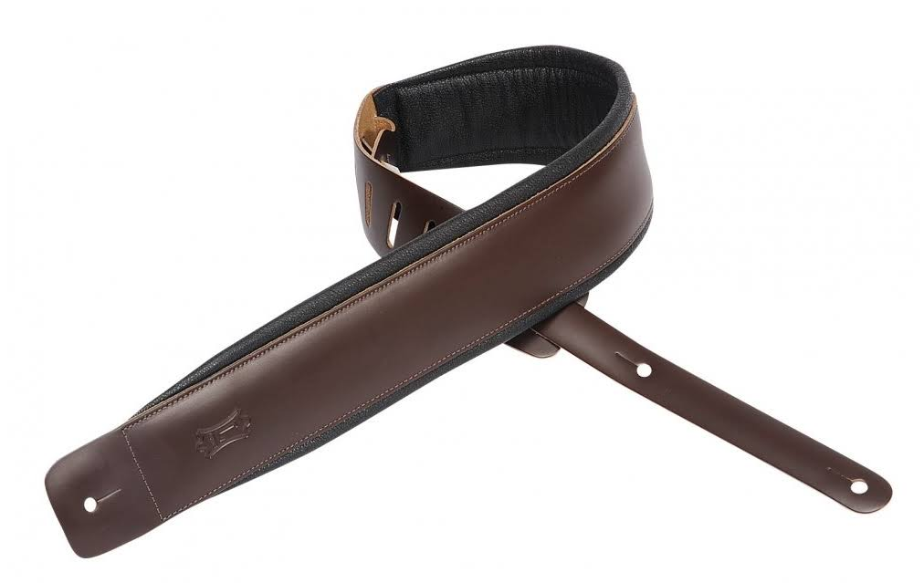 Levy's DM1PD DBR Leather Guitar Strap