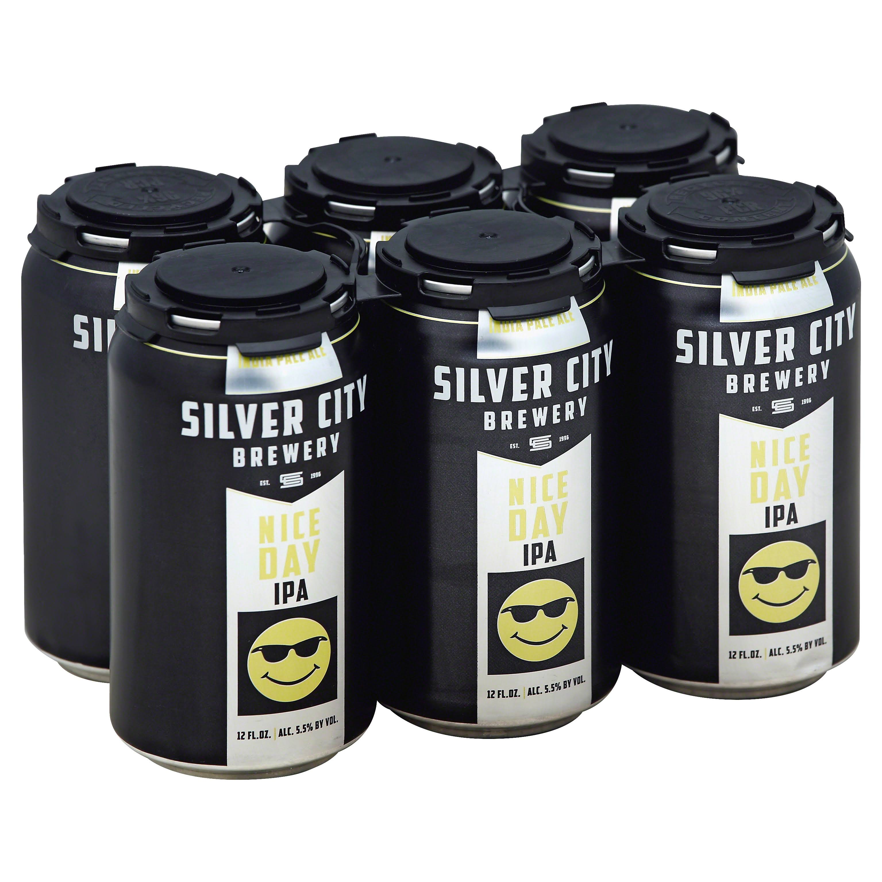 Silver City Beer, India Pale Ale, Nice Day IPA - 6 pack, 12 fl oz cans