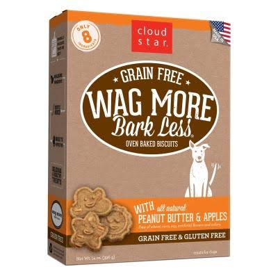 Cloud Star Wag More Bark Less Oven Baked Grain Free Dog Treats - Peanut Butter and Apples