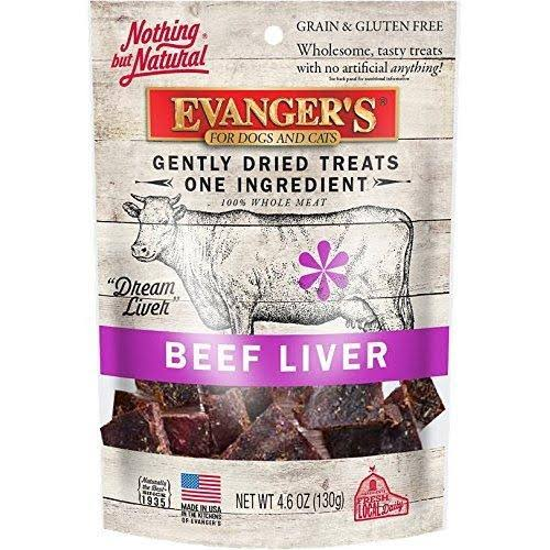 Evanger's Nothing But Natural 100% Beef Liver Pet Treats - 4.6oz