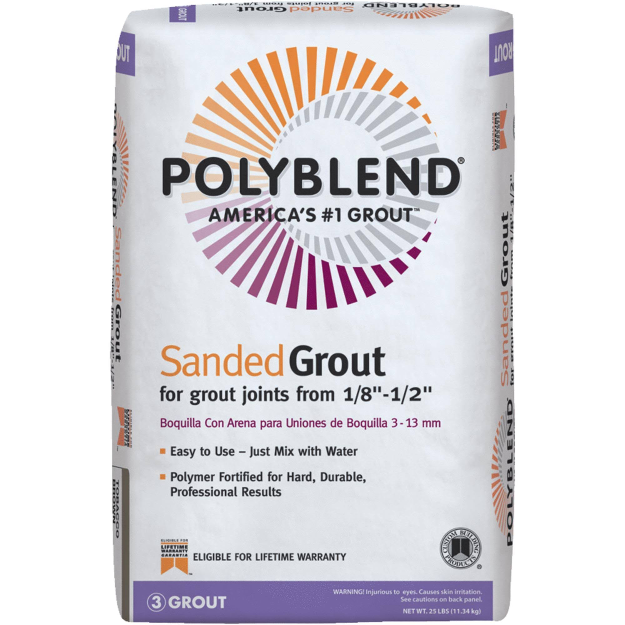 Custom Building Products PBG38025 Sanded Grout, Haystack, 25-Lbs.