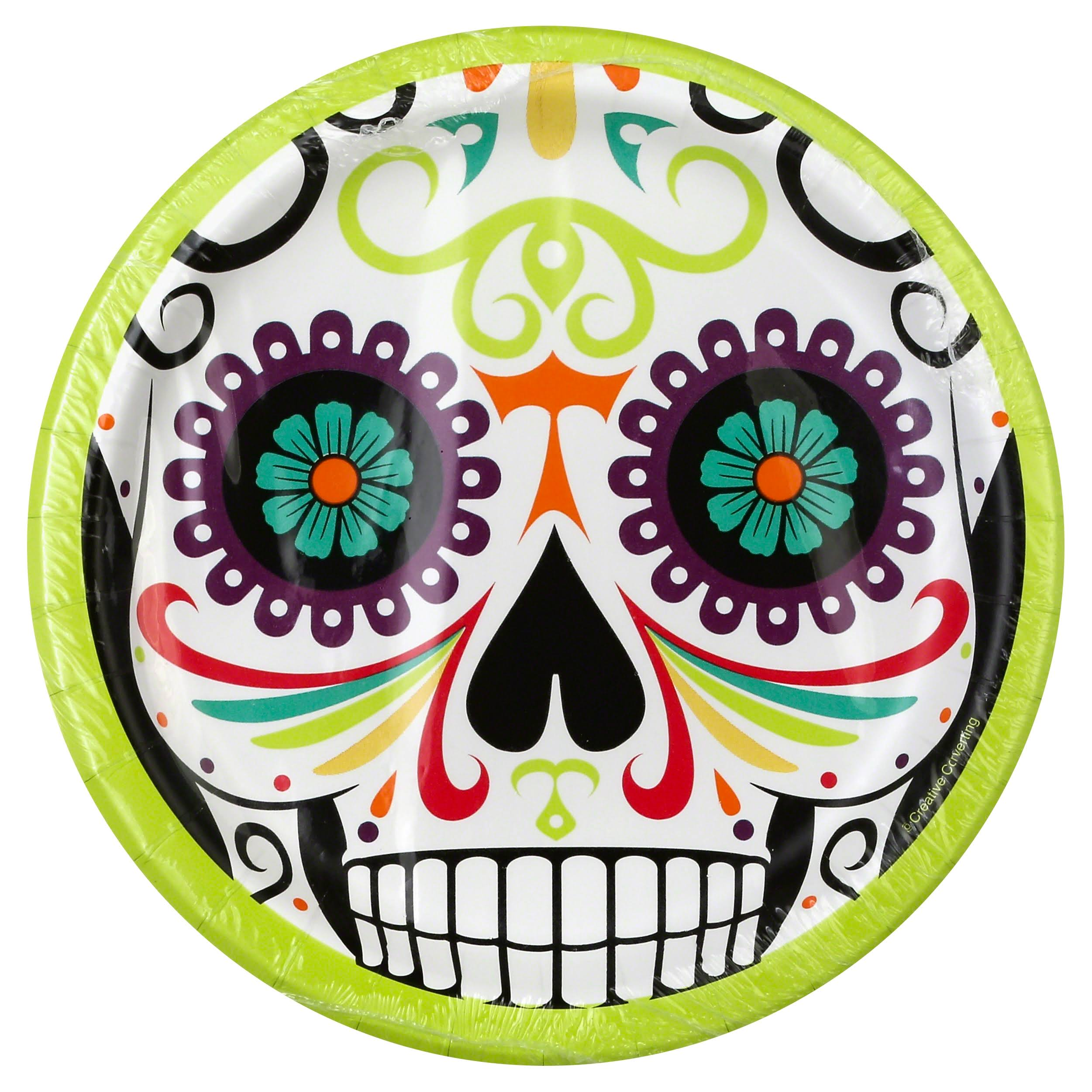Party Creations Sturdy Style Plates, Premium Strength, Skelebration, 6-7/8 Inch - 8 plates
