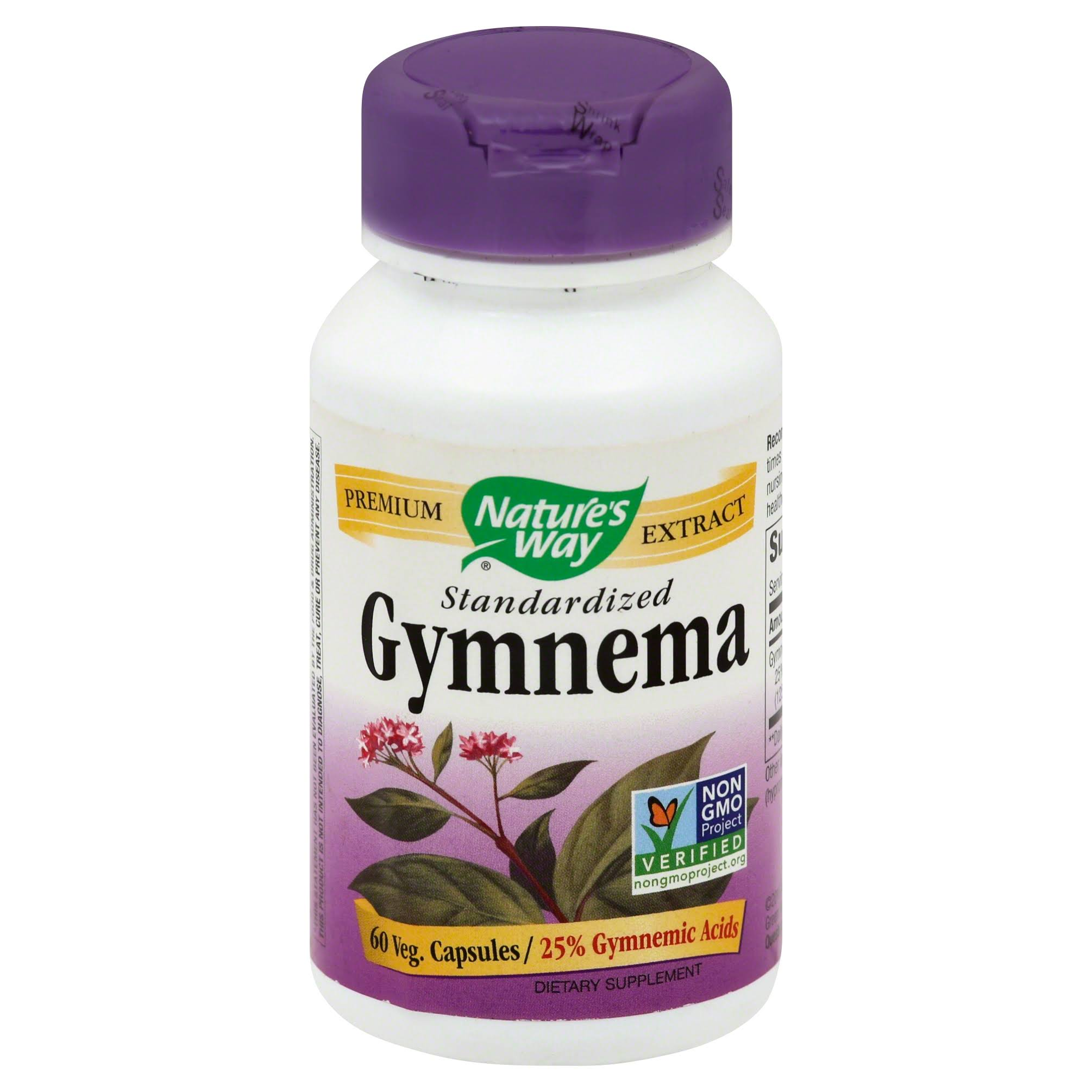 Nature's Way Gymnema Standardized Supplement - 60 Capsules