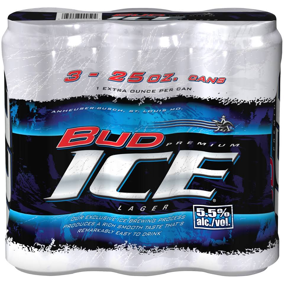 Bud Ice Beer - 3pk, 25oz