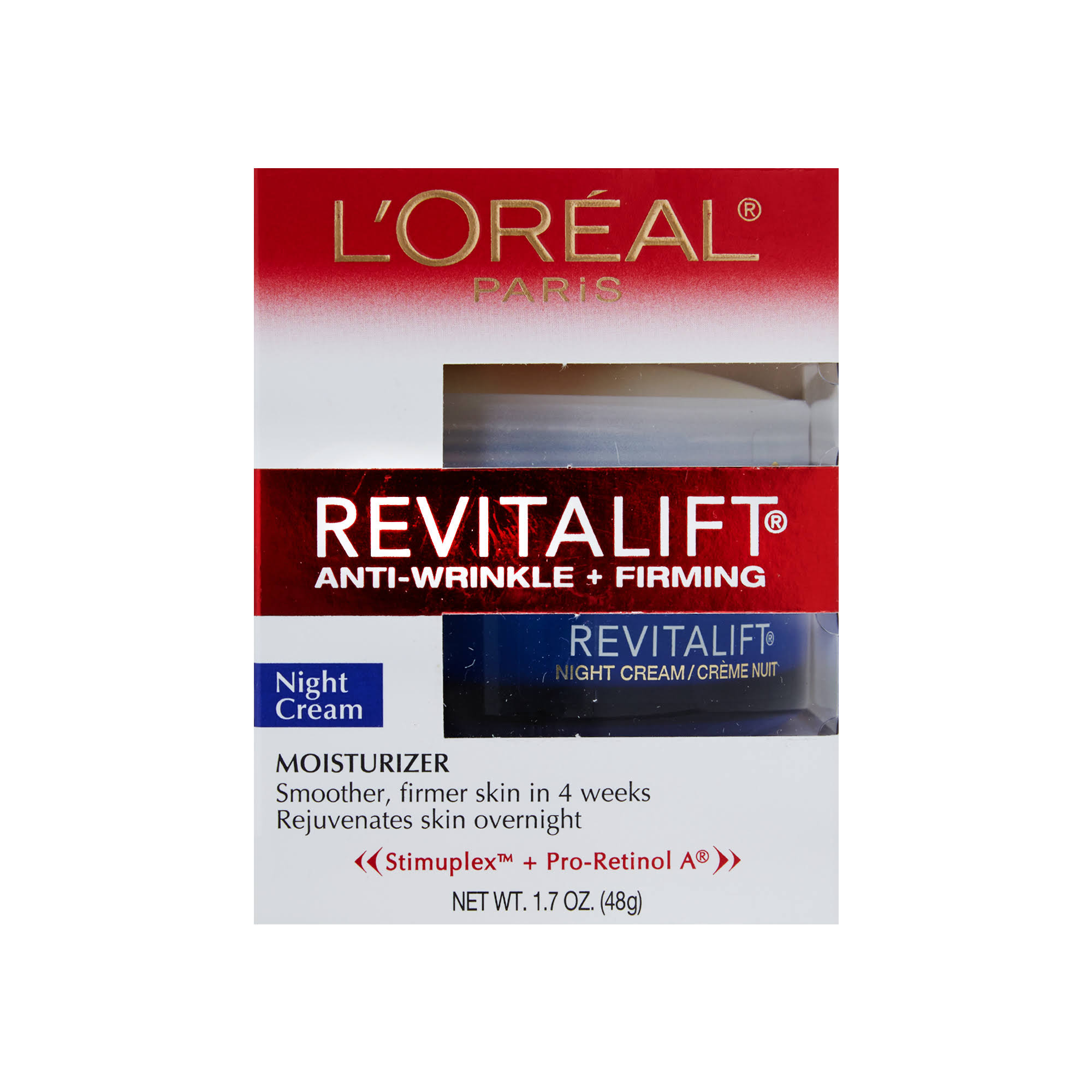 L Oreal Paris Revitalift Anti Wrinkle Firming Night Cream Moisturizer - 1.7oz