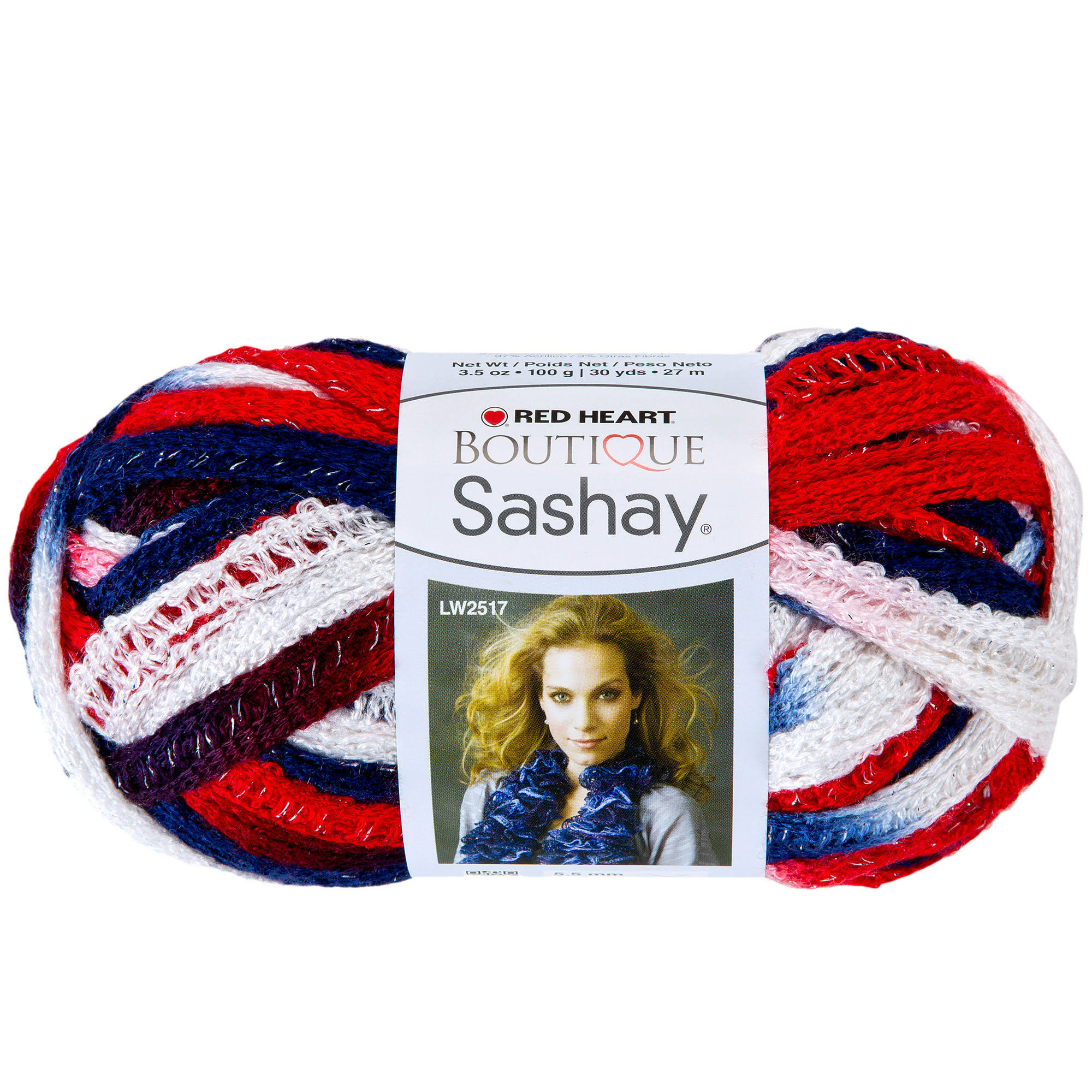 Red Heart Boutique Sashay Yarn - Patriotic
