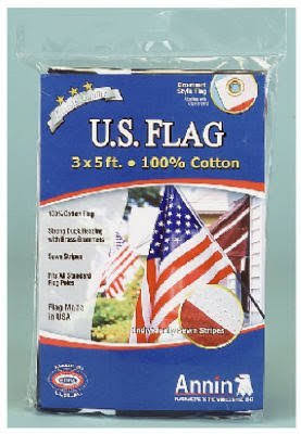 Annin 001124R Cotton Replacement Flag, 3' x 5'