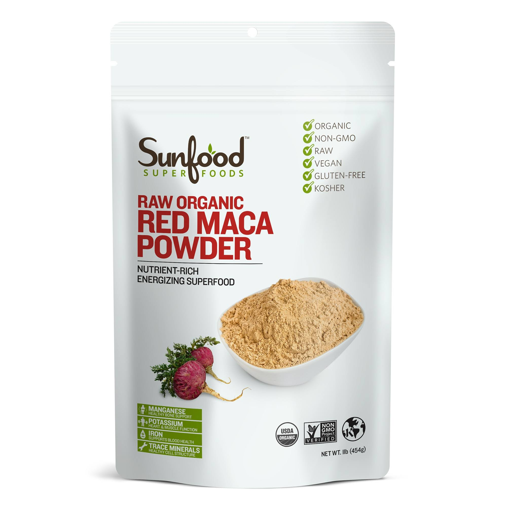 Sunfood Red Maca Powder - 1lb