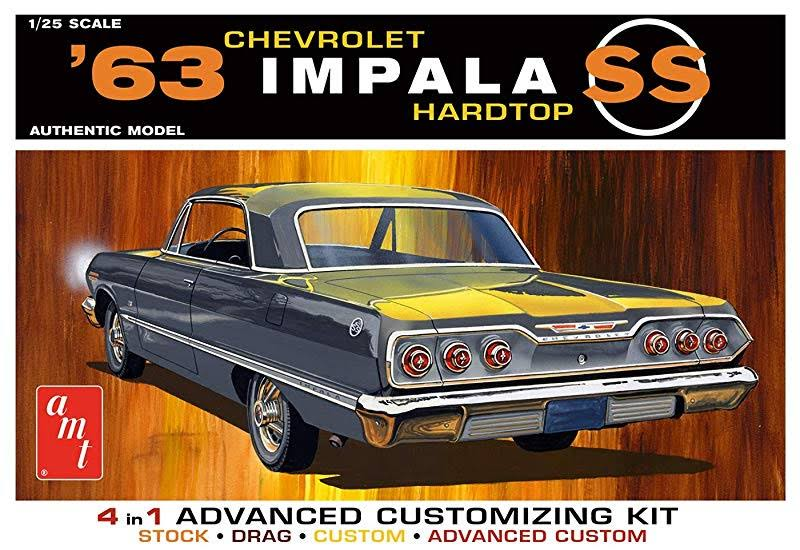 AMT 1149 1963 Chevrolet Impala SS Customizing Plastic Model Kit - Scale 1:25