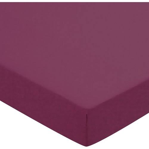 Helena Springfield 50/50 Percale Double Fitted Sheet, Mulberry