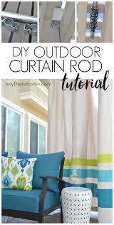 No Drill Window Curtain Rod by How To Make An Outdoor Curtain Rod For Very Little Money
