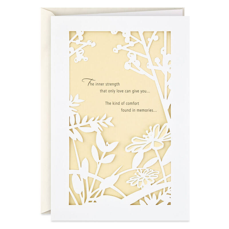 Laser-Cut Nature's Window Sympathy Card