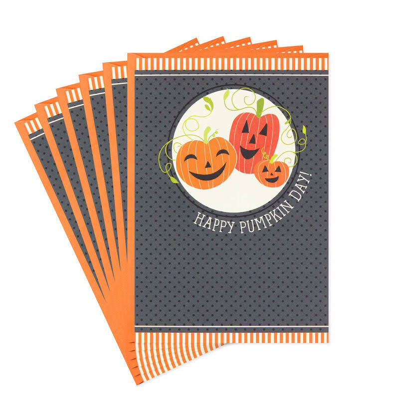 Happy Pumpkin Day Halloween Cards, Pack of 6