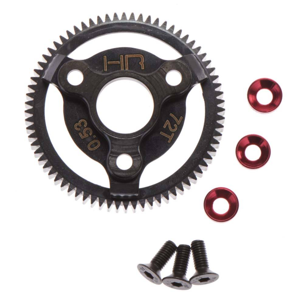 Hot Racing Ste872 Red Steel Spur Gear - Red, Scale 1: 10, with iD System
