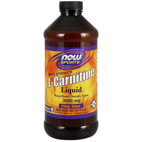 Now Foods L-Carnitine Liquid - Citrus, 3000mg