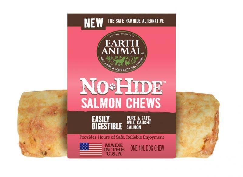 Earth Animal No-Hide Salmon Chew 4in
