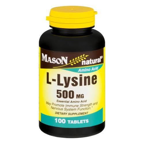 Mason Natural L Lysine Essential Amino Acid Supplement - 500mg, 100ct
