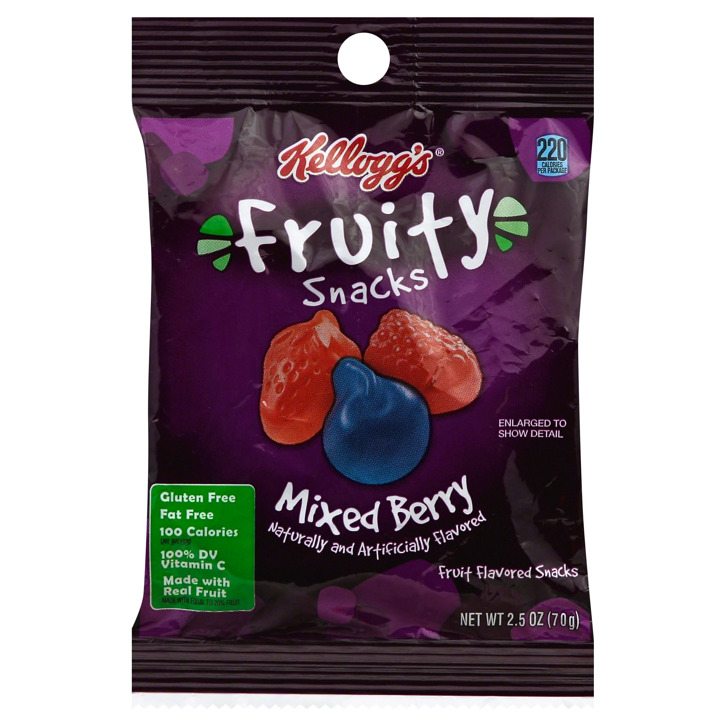 Keebler Fruity Snacks - Mixed Berry, 2.5oz