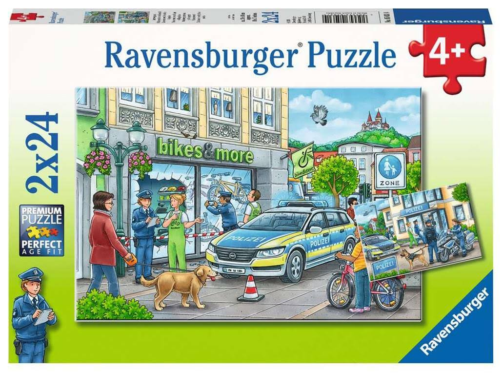 Ravensburger Children's Jigsaw Puzzle Police at Work! 24 Piece, Age 4 +