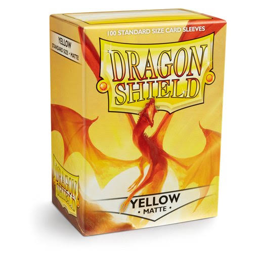Dragon Shield Sleeves - Yellow Matte