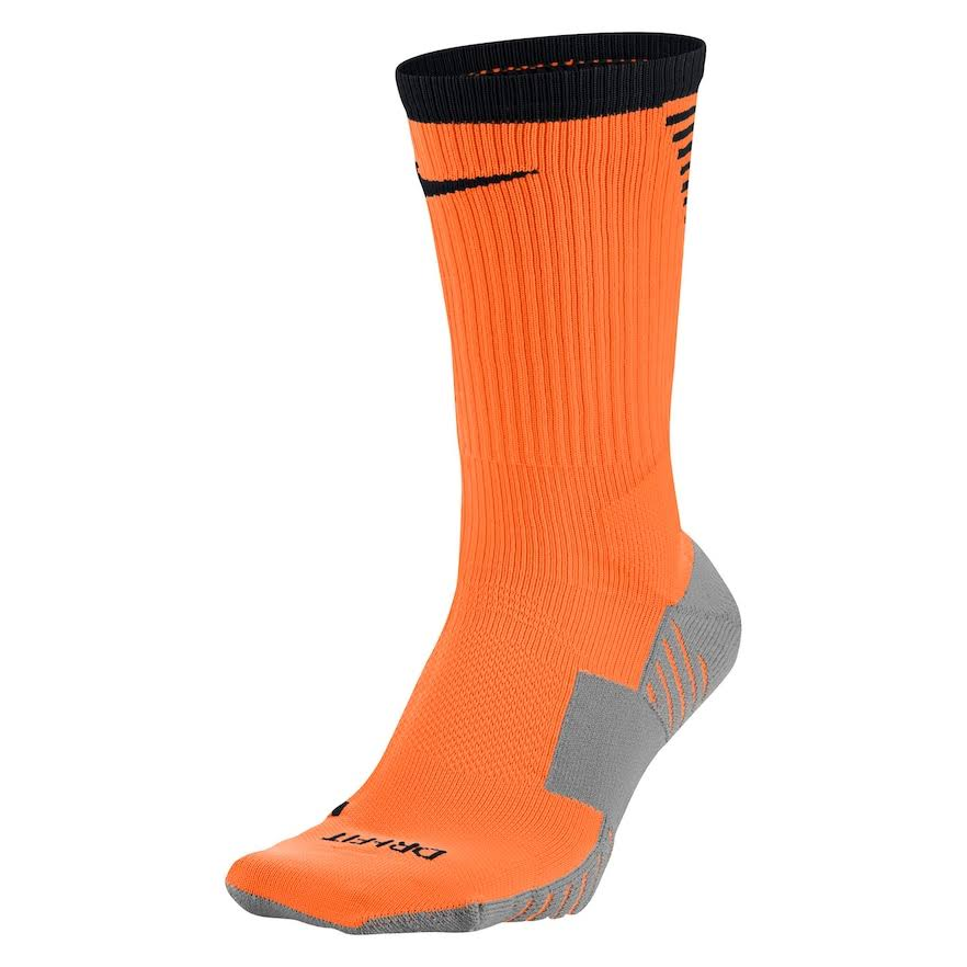 Nike Unisex Squad Cushioned Crew Soccer Socks - Orange and Black, Size 8 to 12