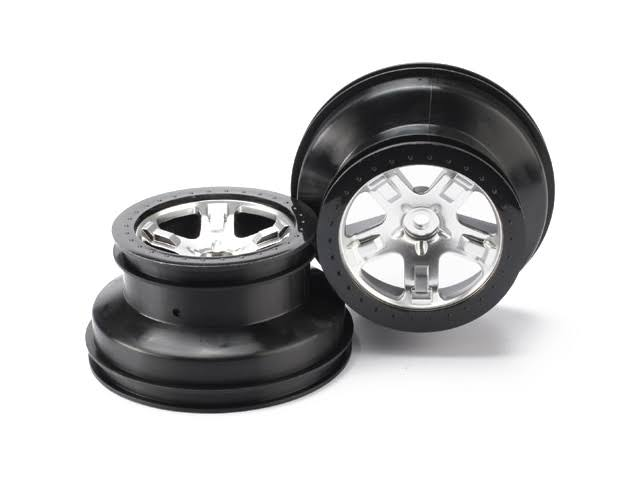 Traxxas 2 Wheels - Chrome Black Beadlock, 5872X