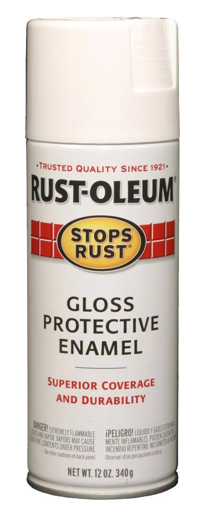 Rust-Oleum Stops Rust Protective Enamel Spray - Gloss White, 12oz
