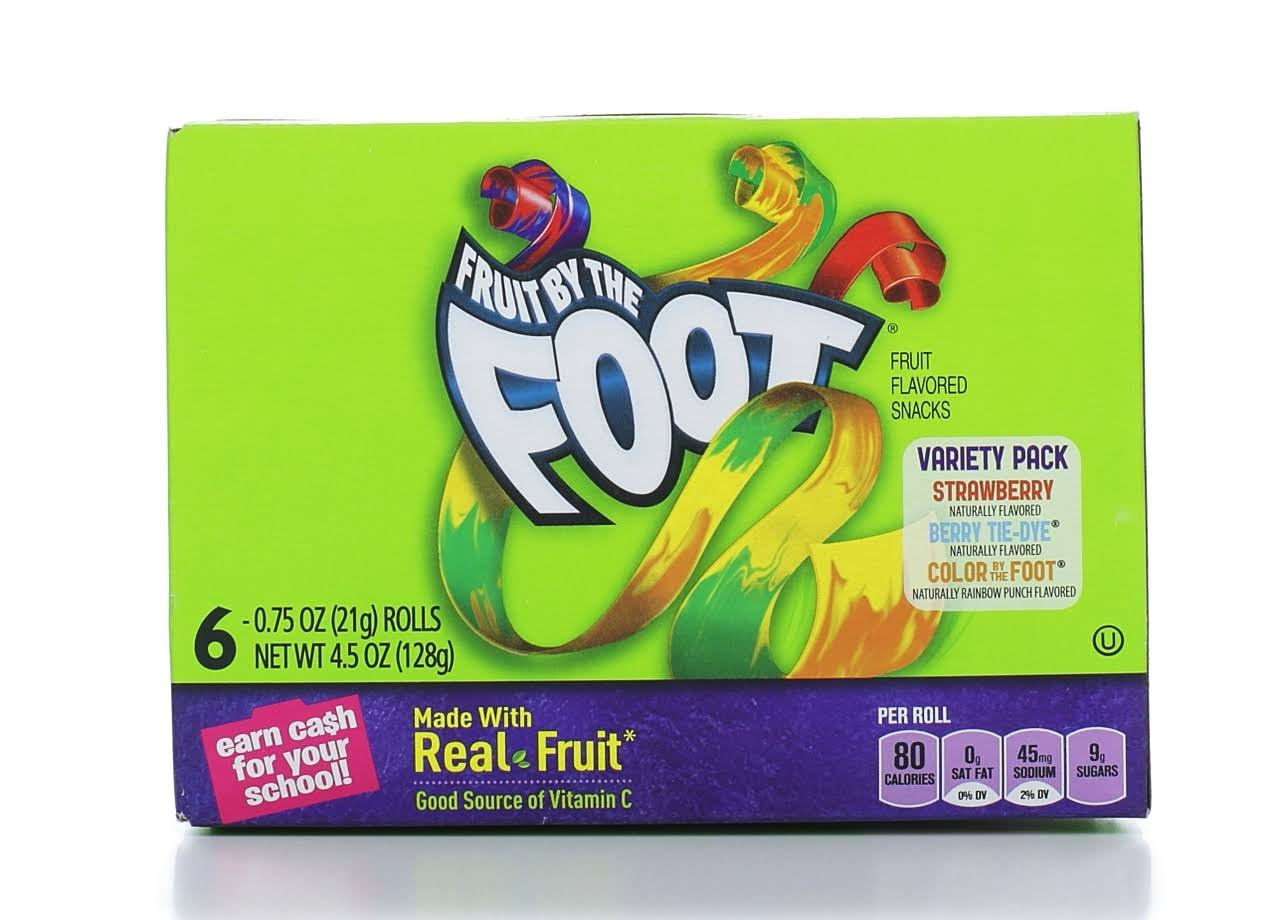 Fruit by the Foot Fruit Flavored Snacks Variety Pack - 6 x 0.75 Oz Pack