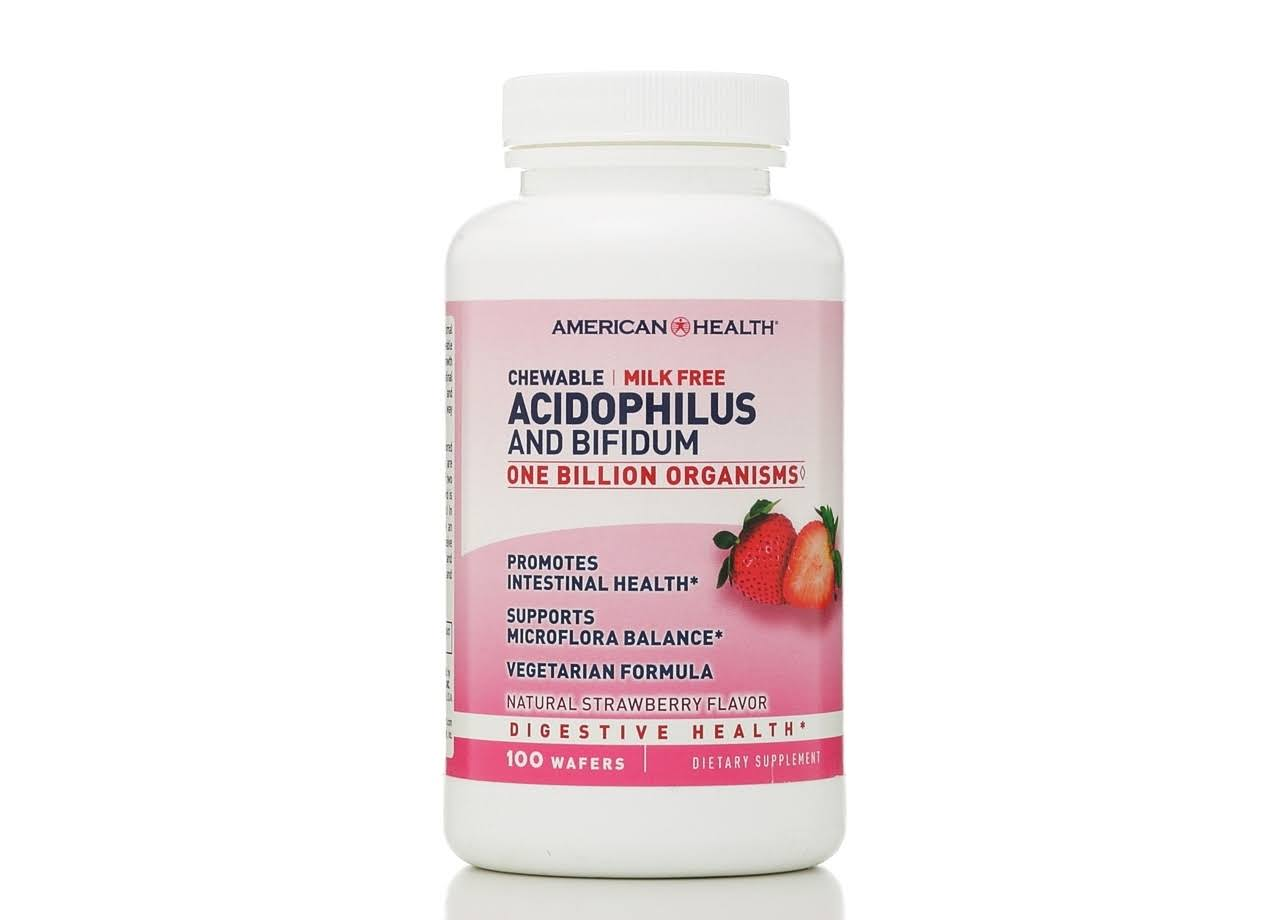 American Health Acidophilus & Bifidum Dietary Supplement - 100 Wafers