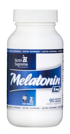 Nutri Supreme Research Melatonin Supplement - 3mg, 90 Vegetarian Capsules