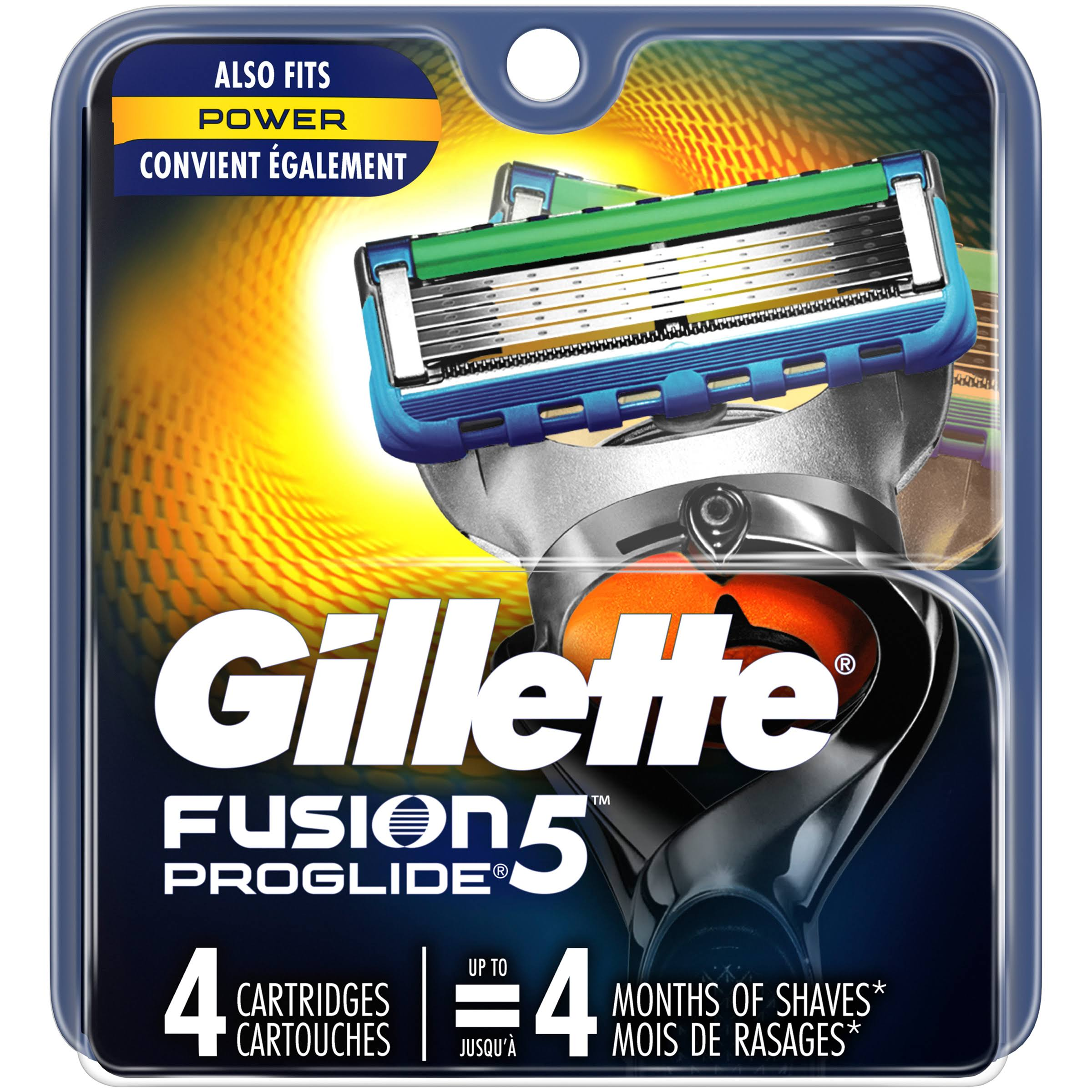 Gillette Fusion Proglide Power Cartridges - 4 Pack