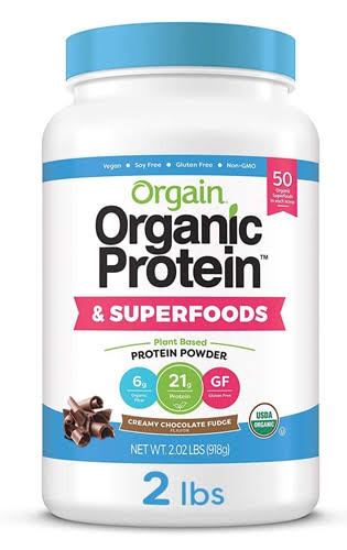 Orgain Organic Protein & Superfoods Creamy Chocolate Fudge 2.02 lbs