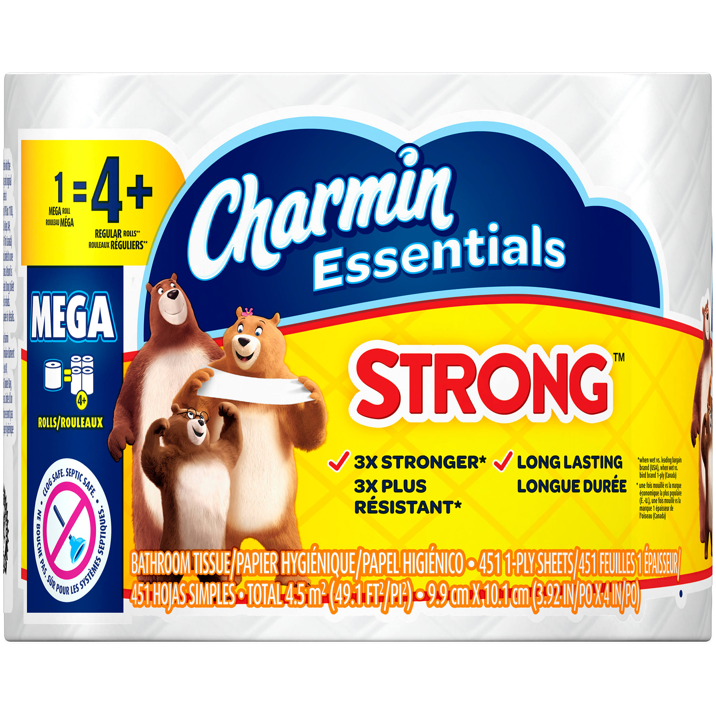 Charmin Essentials Strong Toilet Paper - 4ct