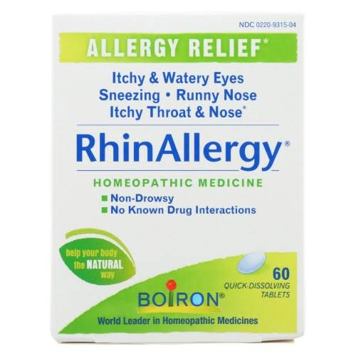 Boiron Rhinallergy Homeopathic Medicine - 60 Tablets