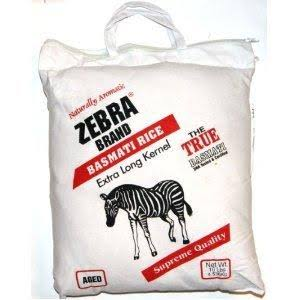 Naturally Aromatic Zebra Basmati Rice Extra Long