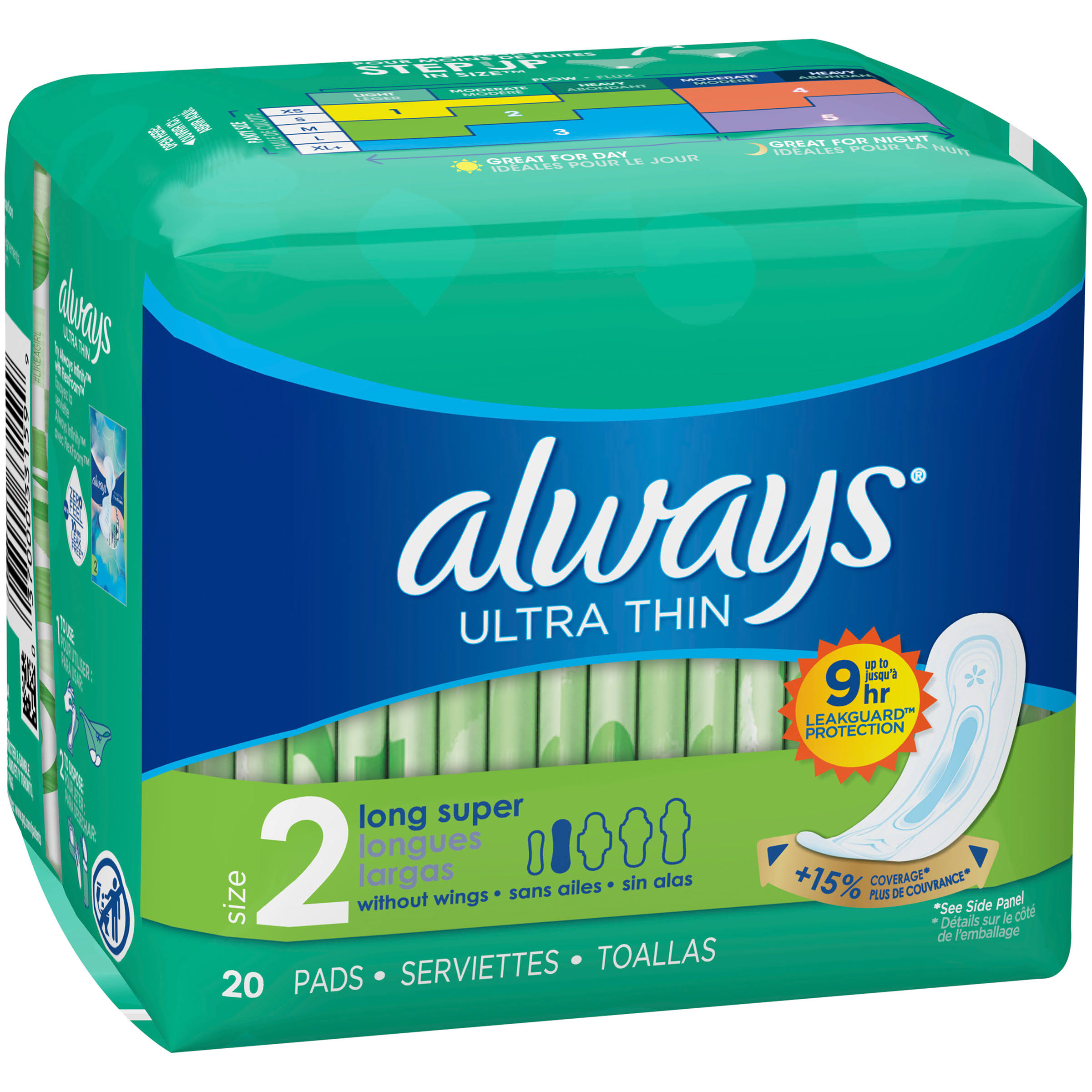 Always Pads - 20 Pads, Ultra Thin, Super Long
