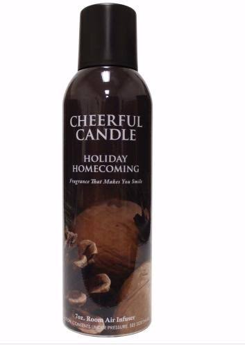 Cheerful Candle Room Air Infuser Spray - Holiday Homecoming, 7oz