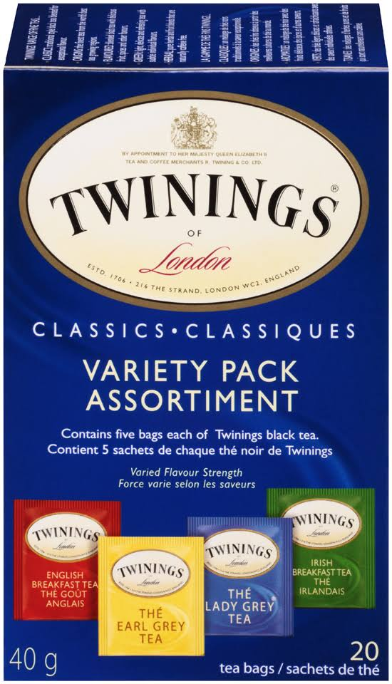 Twinings Of London Tea Bags - Classics Variety Pack, 20 Sachets, 40g