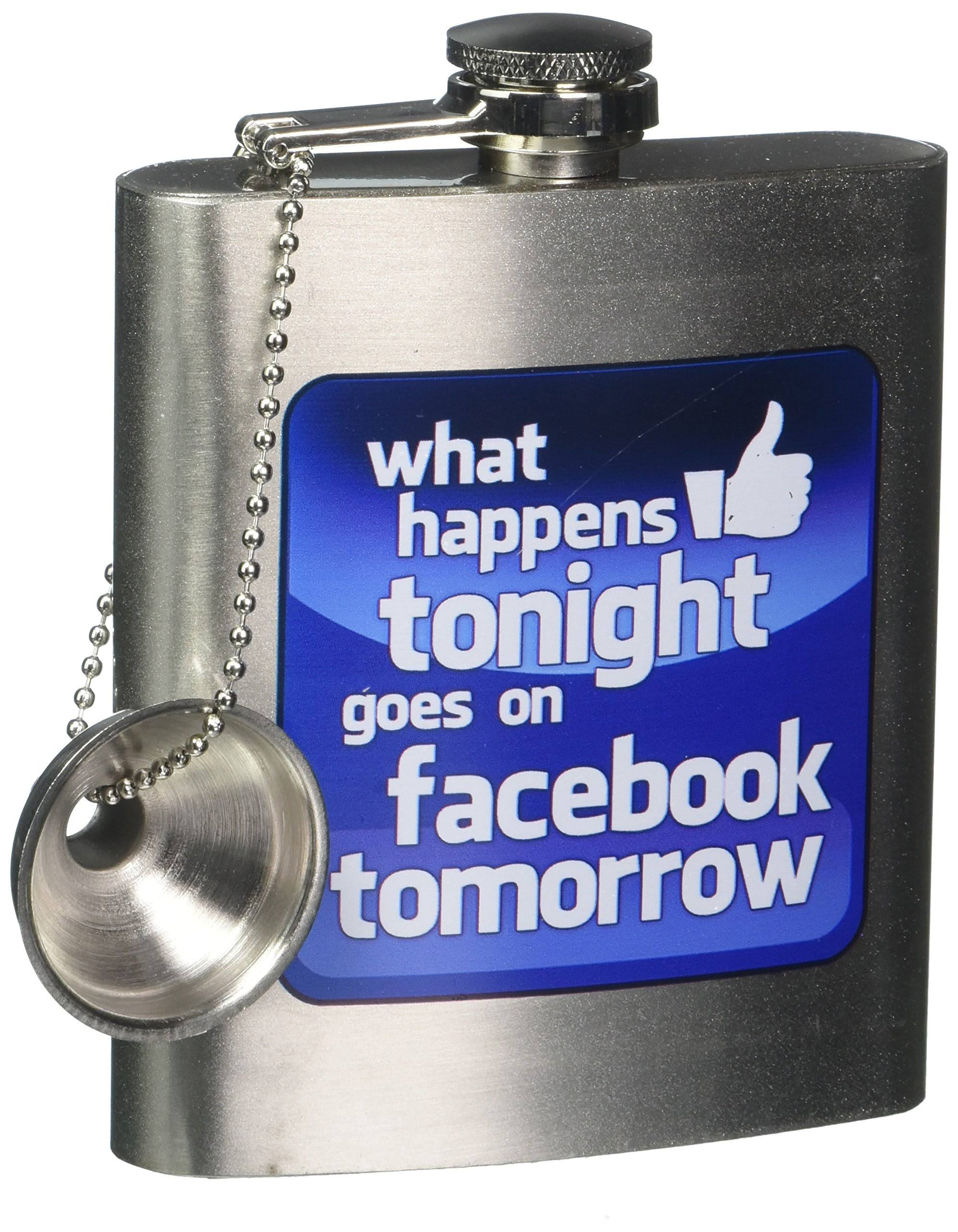 Spoontiques 15758 7oz. Hip Flask What Happens Tonight Goes on