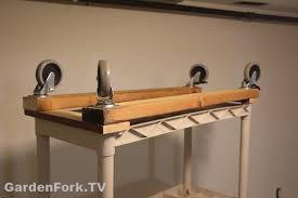 diy rolling garage shelves gf video diy living gardenfork tv